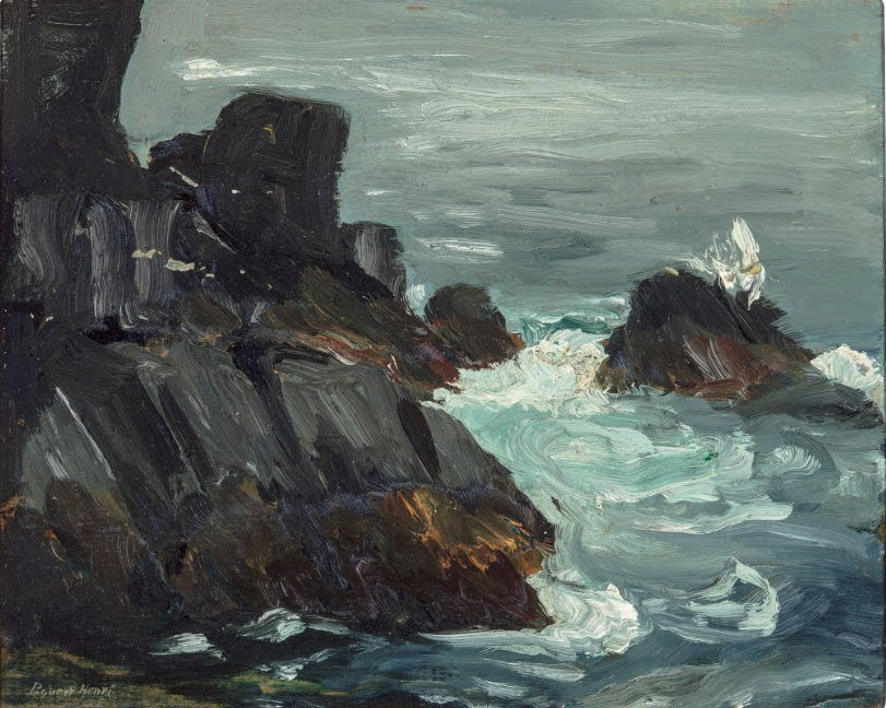 Rocky Promontory, Monehegan, Main, Robert Henri, 1903, New Orleans Museum of Art